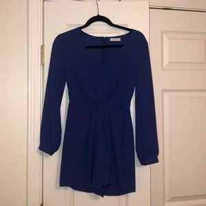 Lush Long Sleeve Royal Blue Romper